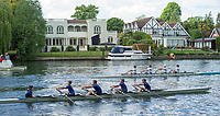 Maidenhead. Berkshire. United Kingdom. General view, JM4X at the start of their heat on the course of the 2017 Maidenhead Junior Regatta  River Thames. <br /> <br /> [&copy;Peter SPURRIER/Intersport Images] Sunday. 14.05.2017