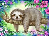 Kayomi, CUTE ANIMALS, LUSTIGE TIERE, ANIMALITOS DIVERTIDOS, paintings+++++,USKH296,#ac#, EVERYDAY ,sloth ,puzzle,puzzles