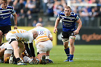 Sam Underhill of Bath Rugby looks on. Gallagher Premiership match, between Bath Rugby and Wasps on May 5, 2019 at the Recreation Ground in Bath, England. Photo by: Patrick Khachfe / Onside Images