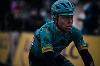 Michael Valgren (DEN/Astana) rolling in at the finish<br /> <br /> 76th Paris-Nice 2018<br /> Stage 7: Nice > Valdeblore La Colmiane (175km)