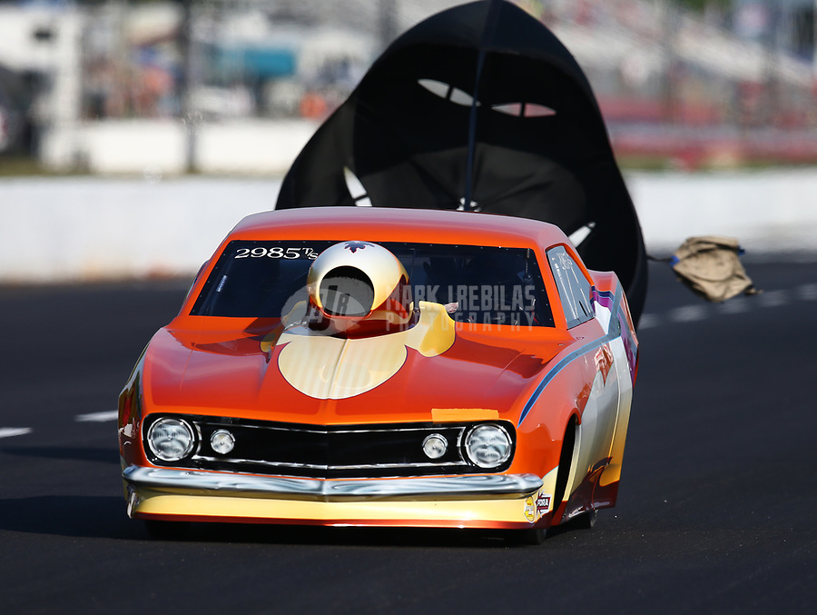 May 4, 2018; Commerce, GA, USA; NHRA top sportsman driver XXXX during qualifying for the Southern Nationals at Atlanta Dragway. Mandatory Credit: Mark J. Rebilas-USA TODAY Sports
