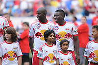 HARRISON, NJ - Saturday July 26, 2014: MLS team New York Red Bulls defeat Arsenal of the Barclays Premier League in a friendly at home in Red Bull Arena 1-0.