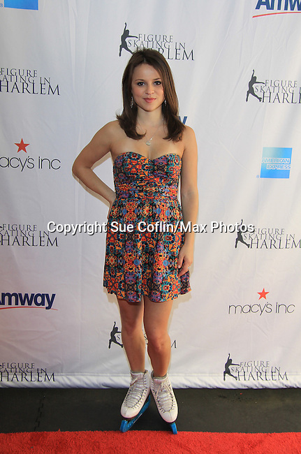US Figure Skater Sasha Cohen (2006 Olympic Silver Medalist, 3 time World Championship medalist - The 2013 Skating with the Stars- a benefit gala for Figure Skating in Harlem on April 8, 2013 at Trump Wollman Rink, New York City, New York. (Photo by Sue Coflin/Max Photos)