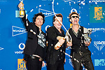 MTV EMA 2019 FIBES Conference & Exhibition Centre in Sevilla.<br /> <br /> Op de foto / On the photo:  Billie Joe Armstrong, Tre Cool and Mike Dirnt of Green Day