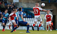 Fleetwood Town's Paddy Madden under pressure from Wycombe Wanderers' Adam El-Abd <br /> <br /> Photographer Andrew Kearns/CameraSport<br /> <br /> The EFL Sky Bet League One - Wycombe Wanderers v Fleetwood Town - Saturday 4th May 2019 - Adams Park - Wycombe<br /> <br /> World Copyright © 2019 CameraSport. All rights reserved. 43 Linden Ave. Countesthorpe. Leicester. England. LE8 5PG - Tel: +44 (0) 116 277 4147 - admin@camerasport.com - www.camerasport.com