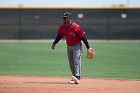 Arizona Diamondbacks second baseman Keshawn Lynch (7) during an Extended Spring Training game against the Cleveland Indians at the Cleveland Indians Training Complex on May 27, 2018 in Goodyear, Arizona. (Zachary Lucy/Four Seam Images)