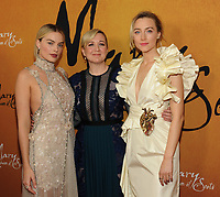 NEW YORK, NY - December 4: Margot Robbie, Josie Rourke, Saoirse Ronan attends the 'Mary Queen of Scots' New York Premiere at the Paris Theater on December 4, 2018 in New York City.<br /> CAP/MPI/JP<br /> &copy;JP/MPI/Capital Pictures