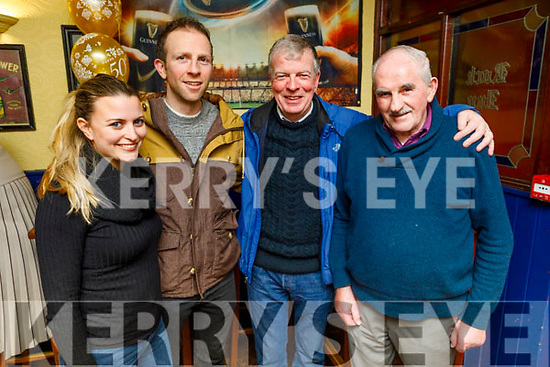 Karen and Damien Wallace, Paddy O'Leary and Frank Wallace enjoying the evening in the Rock Inn on Saturday