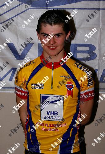30/01/2009 ; wielrennen ; Hoboken WAC ; Persvoorstelling 2009 ; Juniores ; Kristiaan Claeskens