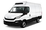 2018 Iveco Daily 35S 4 Door Cargo Van angular front stock photos of front three quarter view