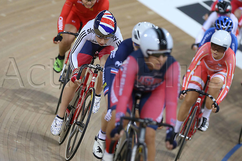06.03.2016. Lee Valley Velo Centre, Lonodn England. UCI Track Cycling World Championships Womens Womens Omnium. Winner and gold medalist  Laura Trott (GBR)