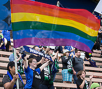 Seattle, WA - Saturday Aug. 27, 2016: Fans during a regular season National Women's Soccer League (NWSL) match between the Seattle Reign FC and the Portland Thorns FC at Memorial Stadium.