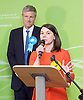 General Election count for the Twickenham &amp; Richmond Park constituencies at the Twickenham Rugby Stadium, Twickenham, Middlesex, Great Britain <br /> 9th June 2017 <br /> <br /> Zac Goldsmith wins the Richmond Park <br /> Sarah Olney  (LibDem) gives her speech after losing to Zac <br /> Photograph by Elliott Franks <br /> Image licensed to Elliott Franks Photography Services
