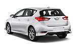 Car pictures of rear three quarter view of 2018 Toyota Corolla-iM CVT-Automatic 5 Door Hatchback Angular Rear