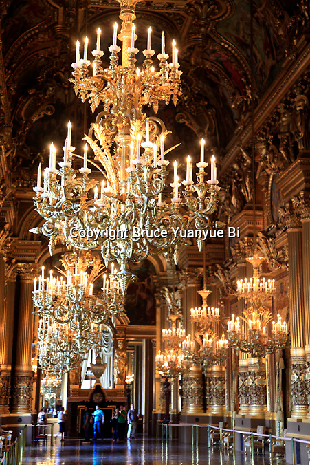 Grand Foyer/Great Hall of Opera Garnier. Palais Garnier. City of Paris. Paris