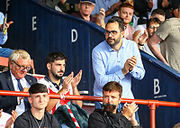 Leeds United director of football Victor Orta takes his seat<br /> <br /> Photographer Alex Dodd/CameraSport<br /> <br /> Football Pre-Season Friendly - York City v Leeds United - Wednesday 10th July 2019 - Bootham Crescent - York<br /> <br /> World Copyright © 2019 CameraSport. All rights reserved. 43 Linden Ave. Countesthorpe. Leicester. England. LE8 5PG - Tel: +44 (0) 116 277 4147 - admin@camerasport.com - www.camerasport.com