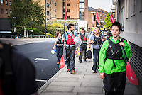 Walking to the River Thames for Kayaking Tower Hamlets, East London, England