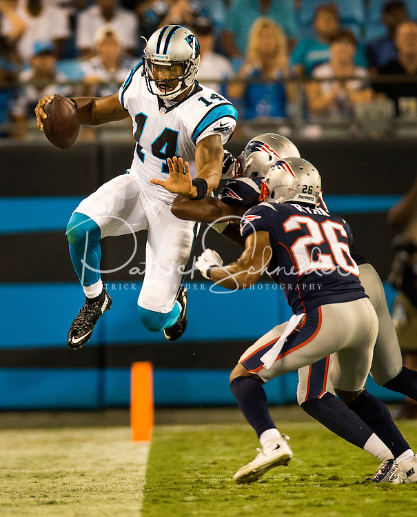 Carolina Panthers vs. New England Patriots, during their preseason NFL game at Bank of America Stadium in Charlotte, North Carolina.<br /> <br /> Charlotte Photographer: PatrickSchneiderPhoto.com