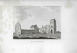 Engravings of Scottish landscapes and buildings from late eighteenth and early nineteenth century, Kilwinning Abbey, North Ayrshire, Scotland 1790