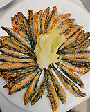 TURKEY, Istanbul, close-up of Turkish cuisine, sardines, at Refik Restaurant.