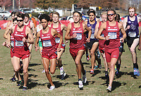 NWA Democrat-Gazette/DAVID GOTTSCHALK University of Arkansas Men's Cross Country team leaves the starting line Friday, November 15, 2019, at the NCAA South Regional at the Agri Park course in Fayetteville. The Razorback men finished second overall in the team division.
