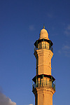 Israel, Tel Aviv-Yafo, the minaret of the Great Mosque in Jaffa