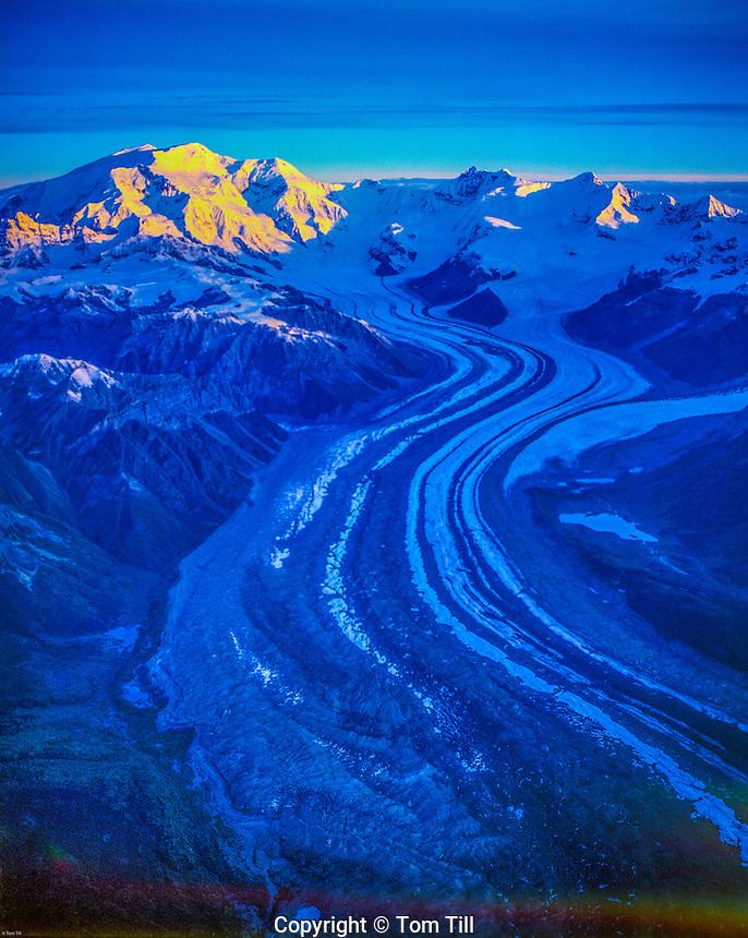 Peaks of the Wrangell Mountains Wrangell St. Elias National Park and Preserve, Alaska Wrangell/st. Elias Wilderness Kennicott Glacier/ Mt. Blackburn
