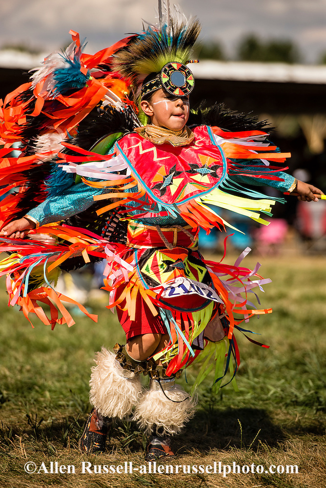 Junior Fancy Dancer At Crow Fair Powwow On Crow Indian