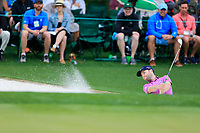 Brandon Grace (RSA) on the 18th green during the 2nd round at the The Masters , Augusta National, Augusta, Georgia, USA. 12/04/2019.<br /> Picture Fran Caffrey / Golffile.ie<br /> <br /> All photo usage must carry mandatory copyright credit (© Golffile | Fran Caffrey)