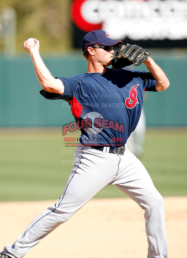 Wes Hodges  -  Cleveland Indians - 2009 spring training.Photo by:  Bill Mitchell/Four Seam Images