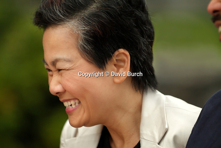Laughing Asian woman