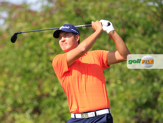 Sihwan Kim (USA) on the 6th tee during Round 1 of the D+D Real Czech Masters at the Albatross Golf Resort on Thursday 27th August 2015.<br /> Picture:  Thos Caffrey / www.golffile.ie