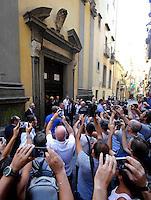 Il l Presidente della Repubblica Sergio Mattarella in visita alla Cappella di San Severo per i<br /> vedere il Cristo Velato  Agosto  22, 2015