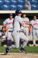 March 6 2009: Jordan Chavis of the Evansville Purple Aces in action against the Pepperdine Waves at Eddy D. Field Stadium in Malibu,CA.  Photo by Larry Goren/Four Seam Images