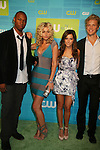 Robbie Jones, Aly Michalka, Ashley Tisdale and Matt Barr at The CW Upfront 2010 green carpet arrivals on May 20, 2010 at Madison Square Gardens, New York, New York. (Photo by Sue Coflin/Max Photos)