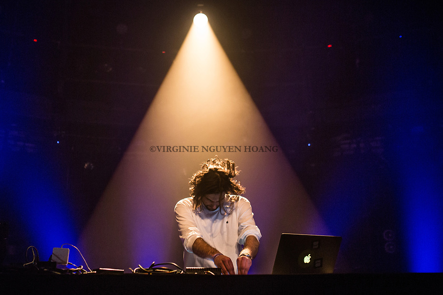Brussels, Belgium: Oton, electronic music propducer,is performing at the Botanique for the Belgian music festival Propulse, February 2018.