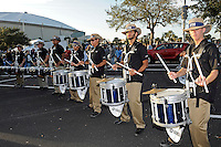 20 December 2011:  FIU's band performs as fans arrive for tailgating prior to the game.  The Marshall University Thundering Herd defeated the FIU Golden Panthers, 20-10, to win the Beef 'O'Brady's St. Petersburg Bowl at Tropicana Field in St. Petersburg, Florida.