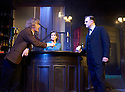 Hangmen by Martin McDonagh, directed by Matthew Dunster. With Johnny Flynn as Mooney, Sally Rogers as Alice,  David Morrissey as Harry. Opens at The Royal Court Jerwood Theatre Downstairs on 18/9/15. CREDIT Geraint Lewis