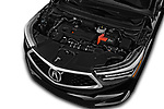 Car stock 2019 Acura RDX RDX 5 Door SUV engine high angle detail view