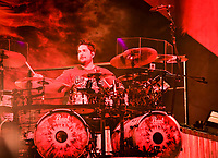 Shaun Foist , Drums with Breaking Benjamin performs at Fivepoint Amphitheater in Irvine Ca. on September 16th, 2016