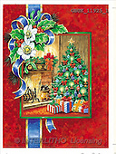 Stephen, CHRISTMAS LANDSCAPE, paintings, fireplace, tree(GBUK11925/1,#XL#)
