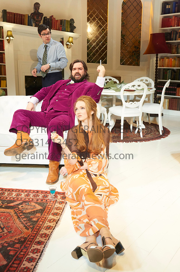 The Philanthropist by Christopher Hampton, directed by Simon Callow. With Simon Bird as Philip, Matt Berry as Braham, Lily Cole as Araminta. Opens at The Trafalgar Studios Theatre on 20/4/17