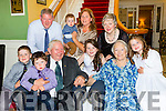 Michael and Sheila Allen, Ballyhar who celebrated their 50th wedding anniversary with their family and friends in the Dromhall Hotel Killarney on Friday front row l-rl Michael, Daithi, Michael, Sheila, Aoibhinn Allen. Back row: Mike, Padraig, Aoife, Órlaith and Mary Allen