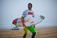 """LA GRAVIERE, Hossegor/France (Tuesday, October 11, 2011) Michel Bourez (PYF). – Clean three-to-four foot (1 metre) lefts and rights are on offer this morning at La Graviere, prompting Quiksilver Pro France organizers to call competition back on with Round 4 commencing at 8:15am...Stop No. 8 of 11 on the 2011 ASP World Title season, the Quiksilver Pro France looks to get through Rounds 4 and 5 as well as the Quarterfinals this morning before the high tide fills in...""""Conditions look very contestable this morning and we'll be commencing with men's competition at 8:15am,"""" Rich Porta, ASP International Head Judge, said. """"We're in a race against the high tide today so we're hoping to complete 12 heats of competition before it becomes unmanageable. That said, we'll monitor the conditions throughout the morning and adjust the schedule accordingly.""""..Heat one was stopped after 14 minutes because of fog and the contest was put on hold for the next four hours waiting for the fog to lift..Round four was completed and one heat of Round five before the contest was put back on hold because of the high tide conditions. Photo: joliphotos.com"""