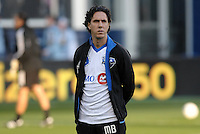 Mauro Biello assistant coach Montreal Impact.Sporting Kansas City defeated Montreal Impact 2-0 .at Sporting Park, Kansas City, Kansas.