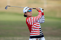Jeongeun Lee (KOR) on the 2nd fairway during Round 3 of the Ricoh Women's British Open at Royal Lytham &amp; St. Annes on Saturday 4th August 2018.<br /> Picture:  Thos Caffrey / Golffile<br /> <br /> All photo usage must carry mandatory copyright credit (&copy; Golffile | Thos Caffrey)