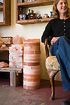 Owner Jennifer Bitterman in her shop that she owns with her husband Mark Bitterman, The Meadow, a salt, chocolate, wine and flower shop in the North Mississippi neighborhood of Portland, OR