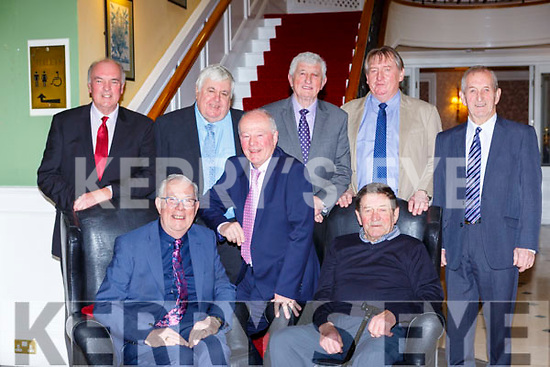 The founding Commitee of Fossa GAA club at the clubs 50th anniversary social in the Dromhall Hotel on Saturday night front row l-r: Gene Moriarty, Gerald Fitzgerald, JJ O'Connell, Back row:  Dermot Griffin, Mike Griffin, Mick Spillane, Bernie Cronin, Brendan Lynch,