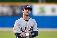 25 September 2009: Daniel Descalso of Team USA warms up prior to the 2009 Baseball World Cup final round match won 8-2 by Team USA over Netherlands, in Nettuno, Italy.