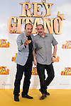 "Actors Manuel Manquiña and Karra Elejalde pose during ""Rey Gitano"" film presentation at Palafox Cinemas in Madrid, Spain. July 09, 2015.<br />  (ALTERPHOTOS/BorjaB.Hojas)"